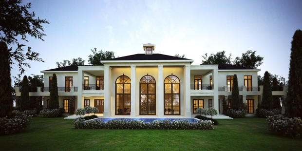 Polo lodge french style architecture modern south French country architecture residential