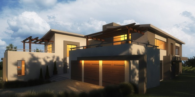 Modern style architect company stellenbosch south africa for Farm style houses south africa